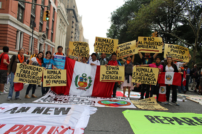 Peru Delegation to the People's Climate March in NYC